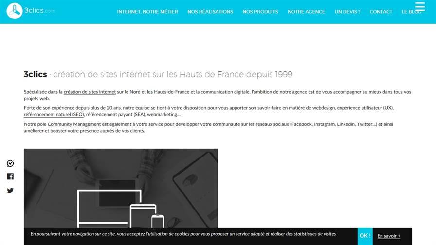 3clics création site internet à Lille