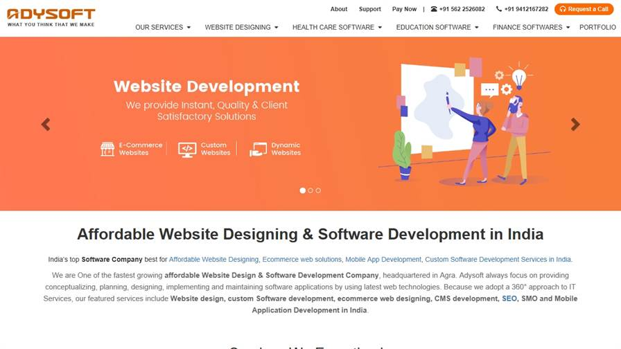 Adysoft® Website Designing & Software Company in Agra, India