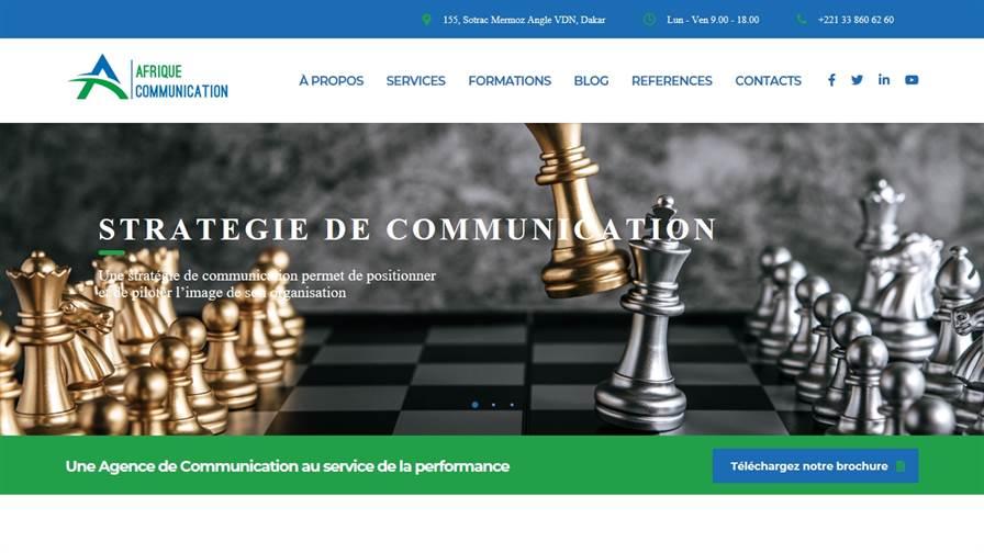 Afrique Communication - Agence de communication institutionnelle - Dakar, Sénégal