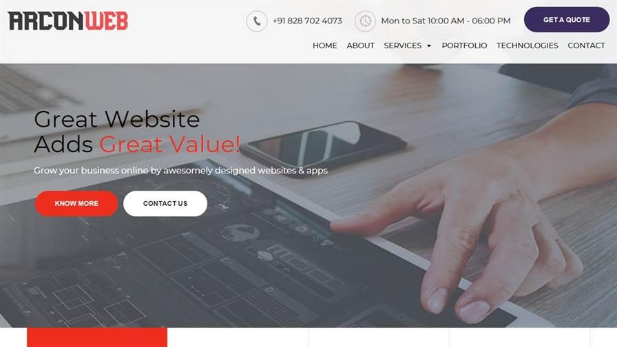 Arcon Web - Web Designing Company