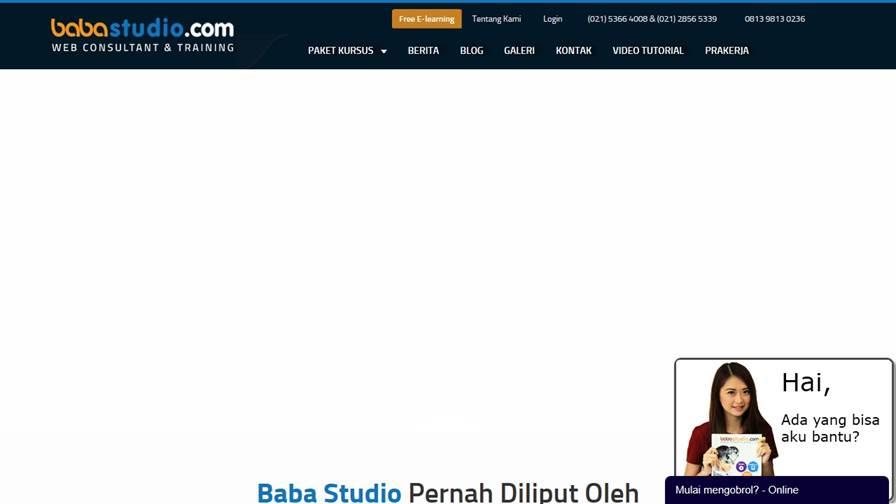 BABA STUDIO | Kursus Web, SEO & Internet Marketing