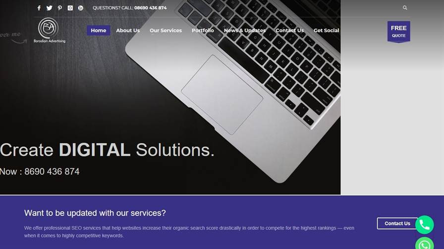 Barodian Advertising ( Digital Marketing & Social Media Marketing - SEO Company - Web Designing - Advertising -Branding And Designing In Vadodara,Gujarat,India)