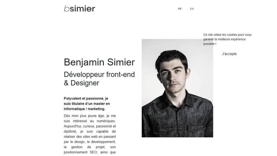 Benjamin Simier | Webmaster, Développeur, Graphiste, Webdesigner, Intégrateur - Brest Finistère