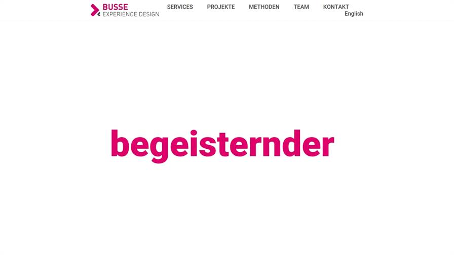 BUSSE Experience Design - User Interface Design