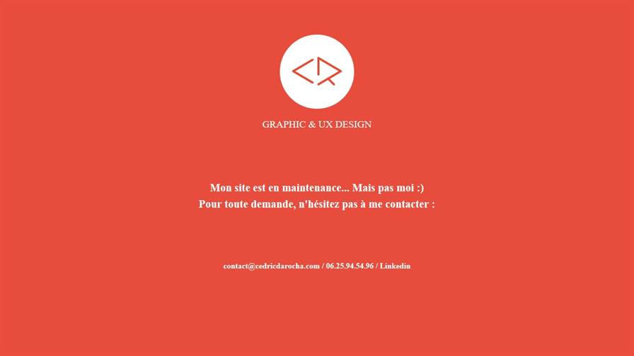 Cédric Da Rocha - Graphic & UX Designer Freelance Lille