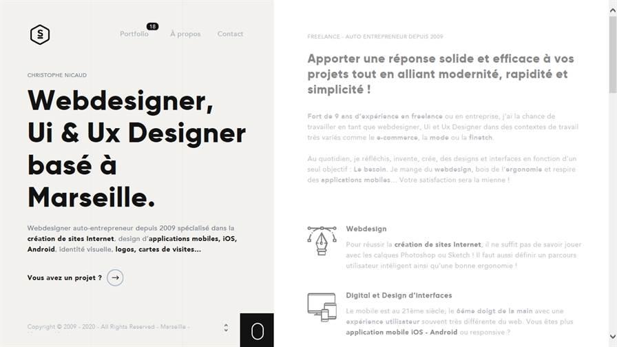 Webdesigner | Christophe Nicaud