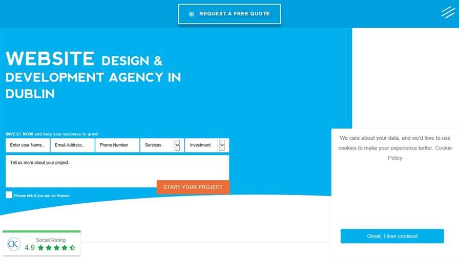 CK Website Design - Web Design Dublin