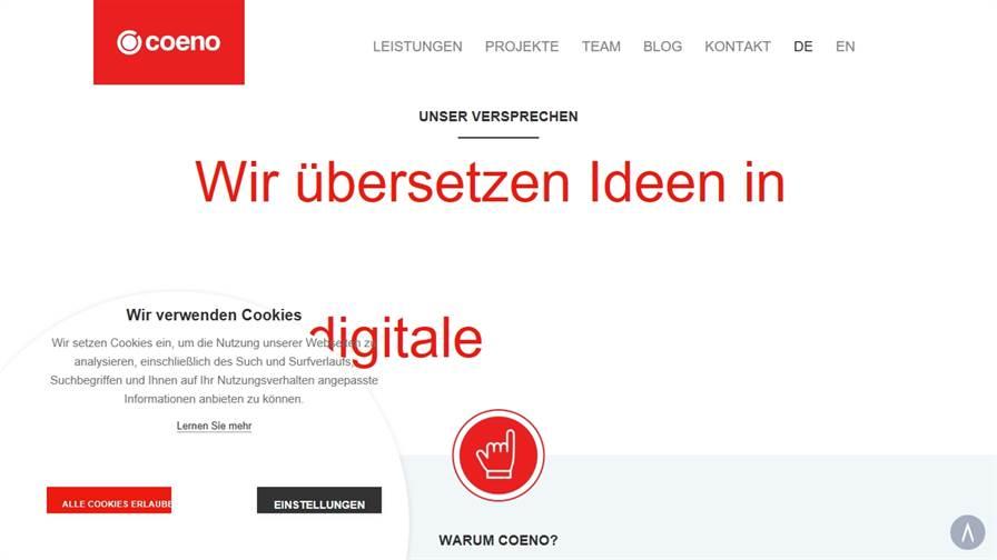 coeno – die User Experience Spezialisten