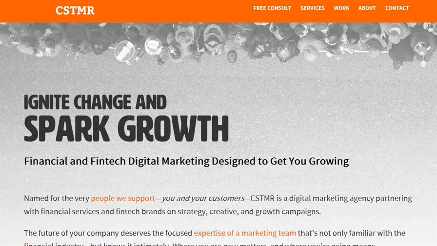 CSTMR Fintech Marketing Agency