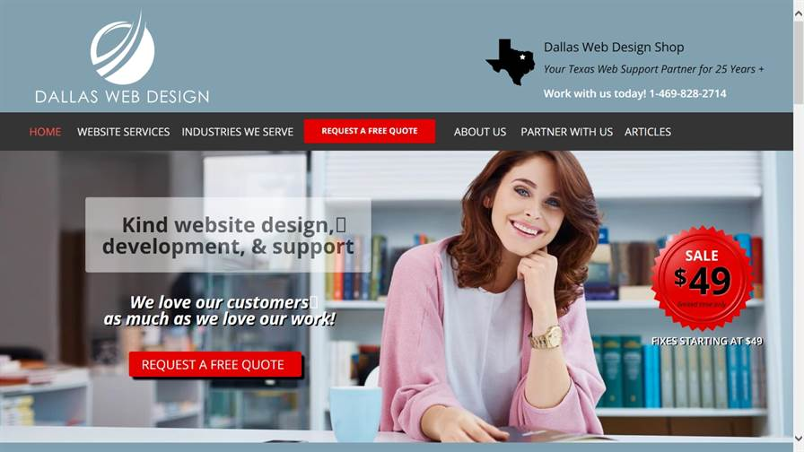 Dallas Web Design Shop