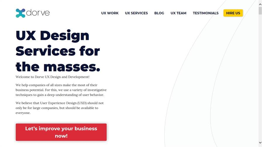 Dorve UX Design