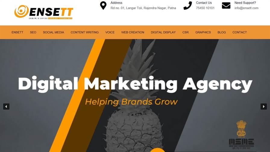 ENSETT- Digital Company In Patna