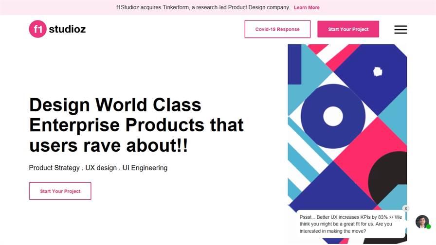 f1Studioz - Enterprise UX / UI Design Company