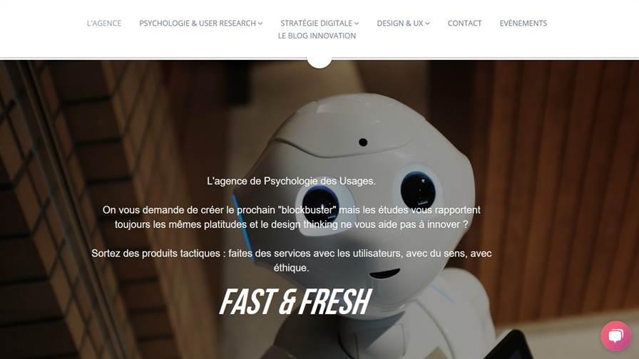 Fast & Fresh - L'agence Usages, UX, Ergonomie