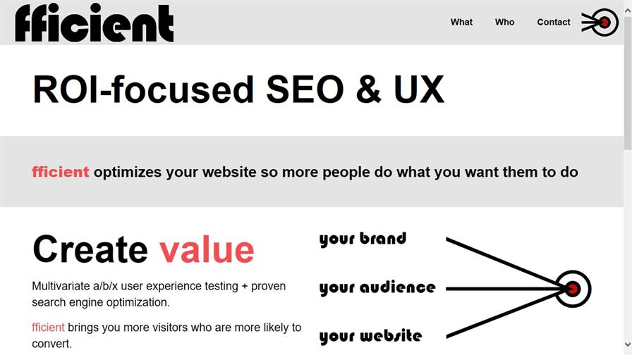fficient SEO and UX