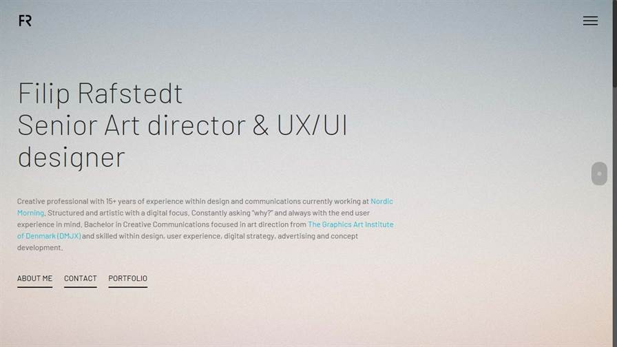 Filip Rafstedt - Art director & UX/UI designer