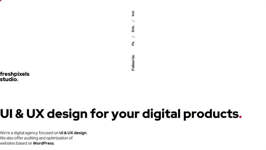 FreshPixels - UI & UX Design Studio
