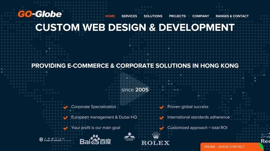GO Globe Web Design Hong Kong