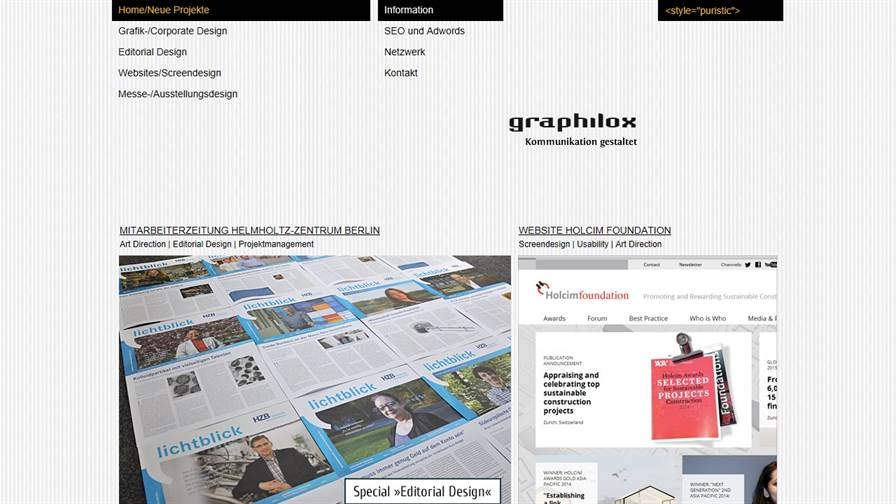 graphilox - UX/UI und Kommunikationsdesign