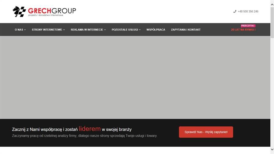 GRECH GROUP - strony internetowe, reklama Google Ads, Facebook Ads