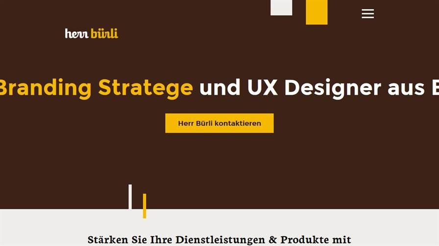 Herr Bürli Branding & UX Design