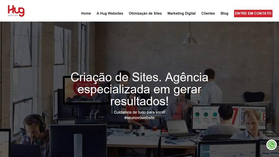 Hug Websites e Marketing Digital Campinas, Criação de Sites, SEO, Ecommerce, Otimização de Sites, Marketing de Conteúdo, Desenvolvimento Web