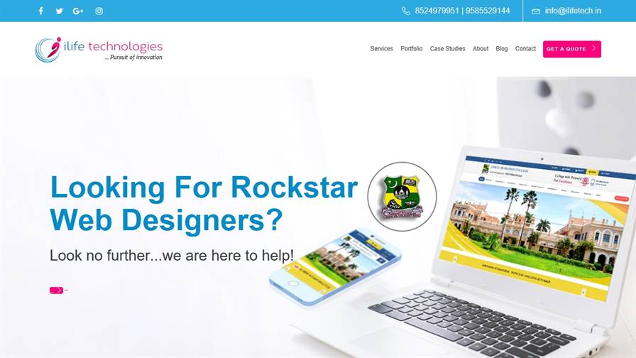 ILIFE TECHNOLOGIES | Web Design Company in Trichy | Ecommerce website in Trichy