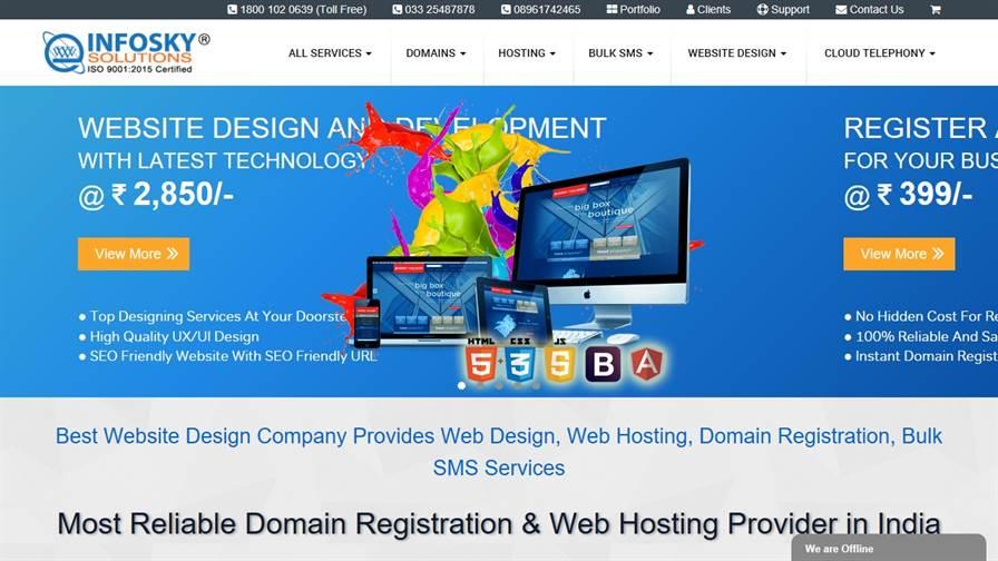 InfoSky Solutions - Website Design Development and Web Hosting Company in Kolkata