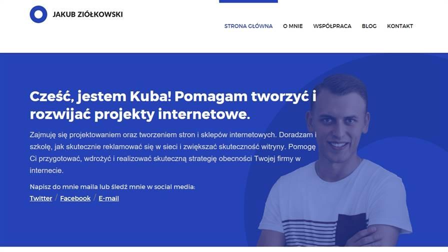 Projektowanie stron internetowych, marketing internetowy, pozycjonowanie - Jakub Ziółkowski