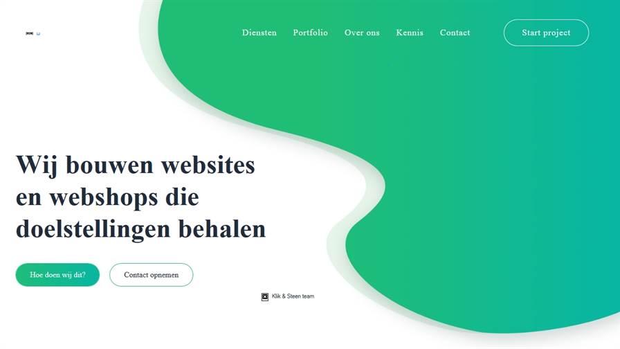 Klik & Steen web development