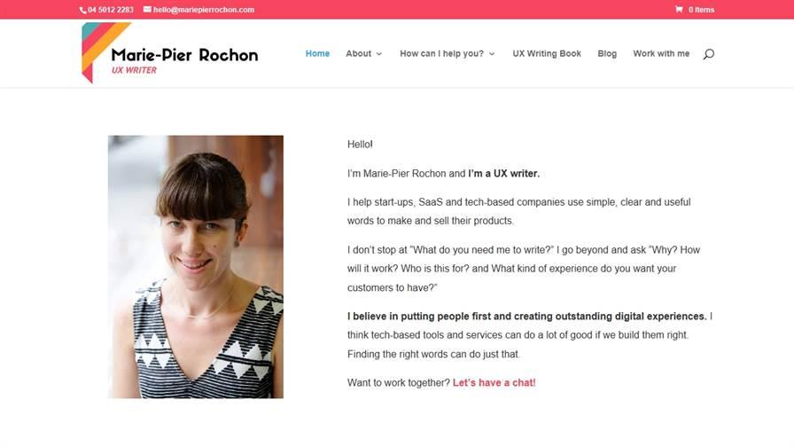 Marie-Pier Rochon - UX Writer