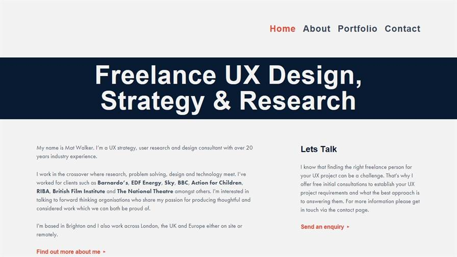 Mat Walker Consulting - UX Design, Strategy and Research