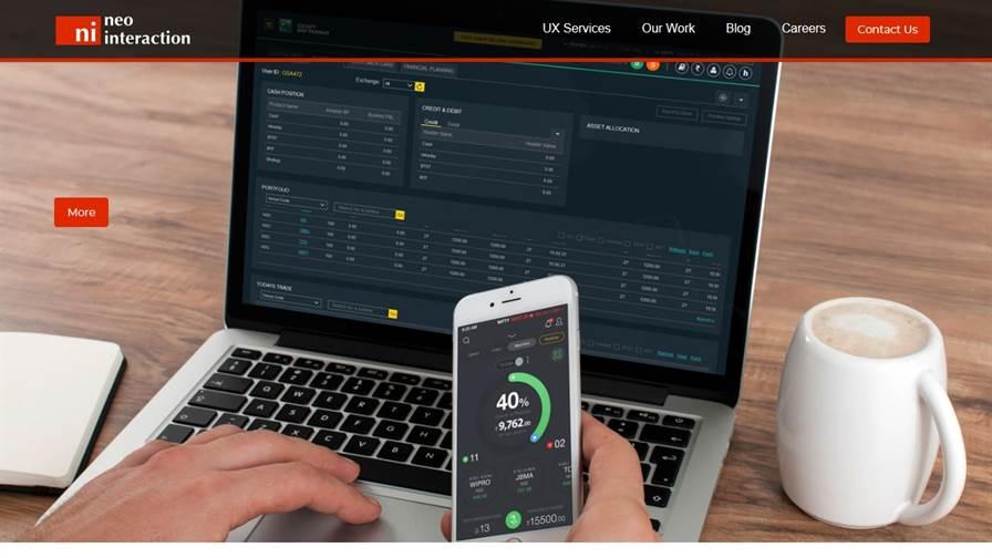Neointeraction | UX/UI Design Services: Online Banking, Share Trading Platform