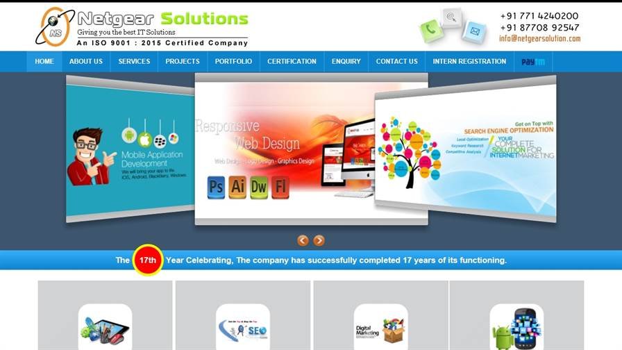 NETGEAR SOLUTIONS – Website Designing And Mobile App Development Company in Raipur