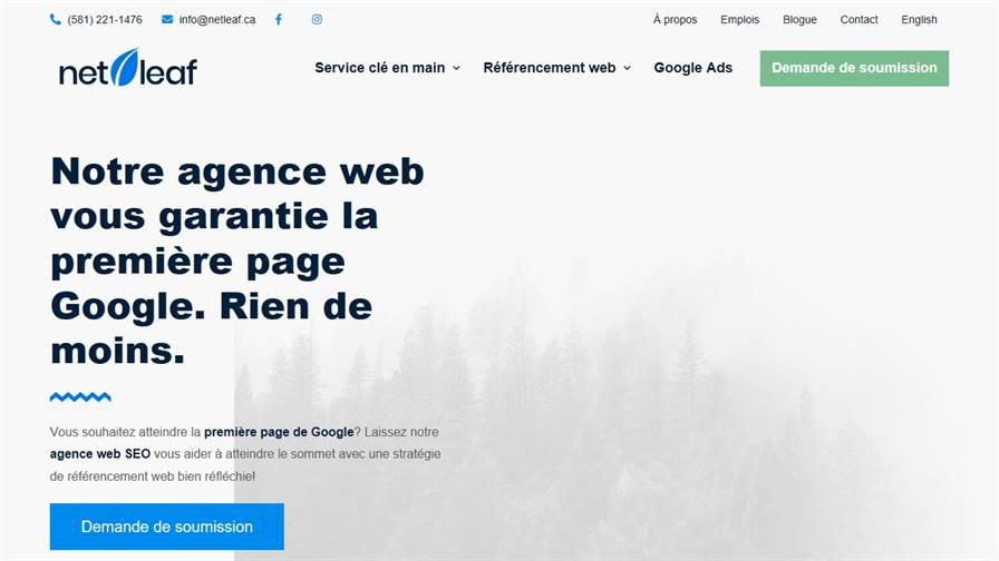 Netleaf - Agence de référencement Web/SEO