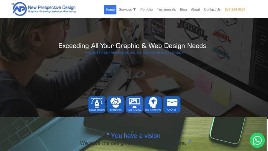 New Perspective Design - Graphic, Website, Logo & Branding East London