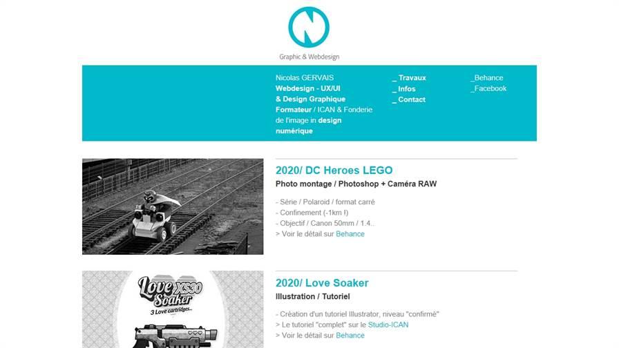 Nicolas GERVAIS, UI, UX, Webdesigner, Graphique designer, graphiste, freelance, Paris