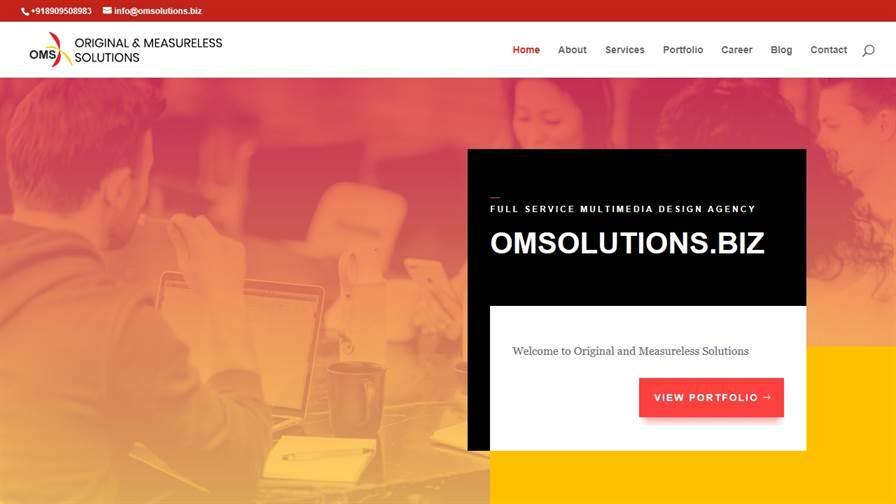 Original & Measureless Solutions | Logo Deisgn, Website Design, Graphic Design, Digital Marketing in Agra - India