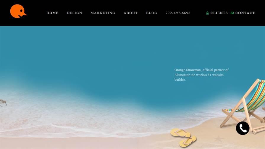 Orange Snowman- Website Design Marketing Agency