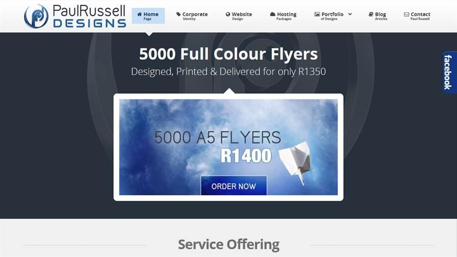 Paul Russell Designs - Graphic And Web Designer in Pietermaritzburg, KwaZulu-Natal, South Africa