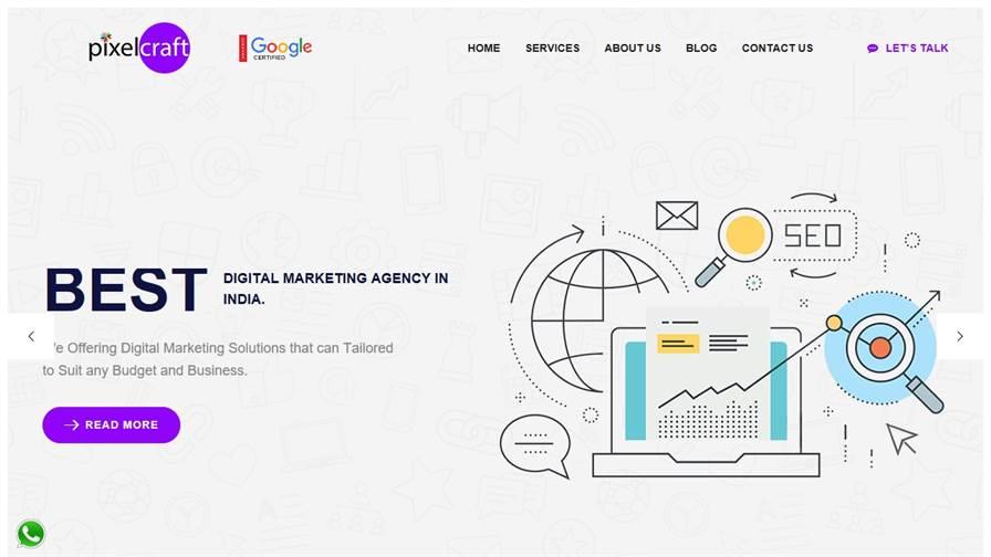 Pixel Craft Solution   Digital Marketing Services Provider