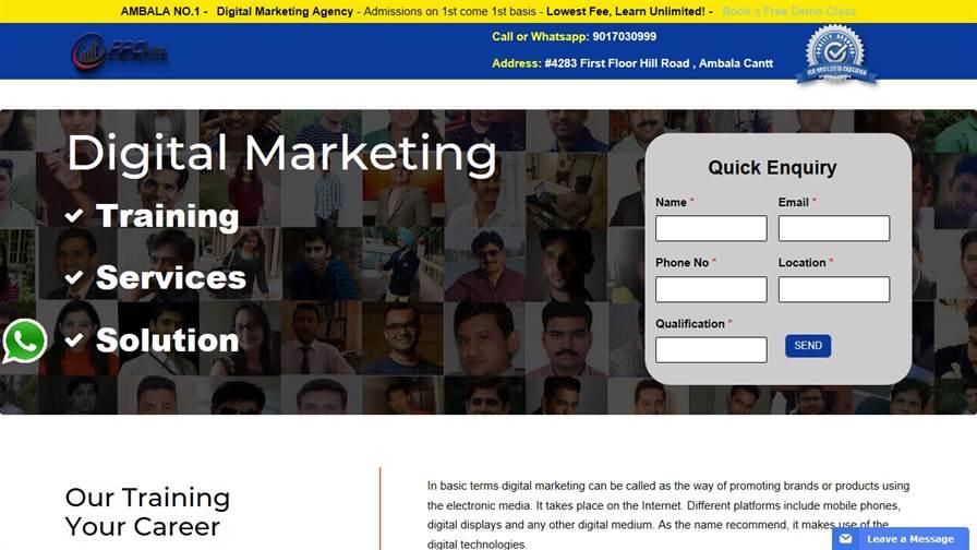 PPC Kite - Digital Marketing course in Ambala | SEO Course | PPC Training | Industrial Training