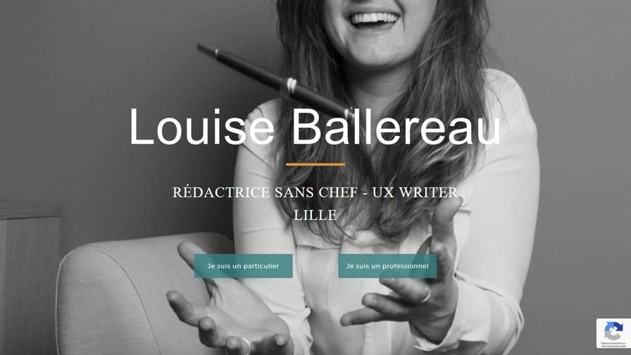 Louise Ballereau - Rédactrice web / UX Writer à Lille