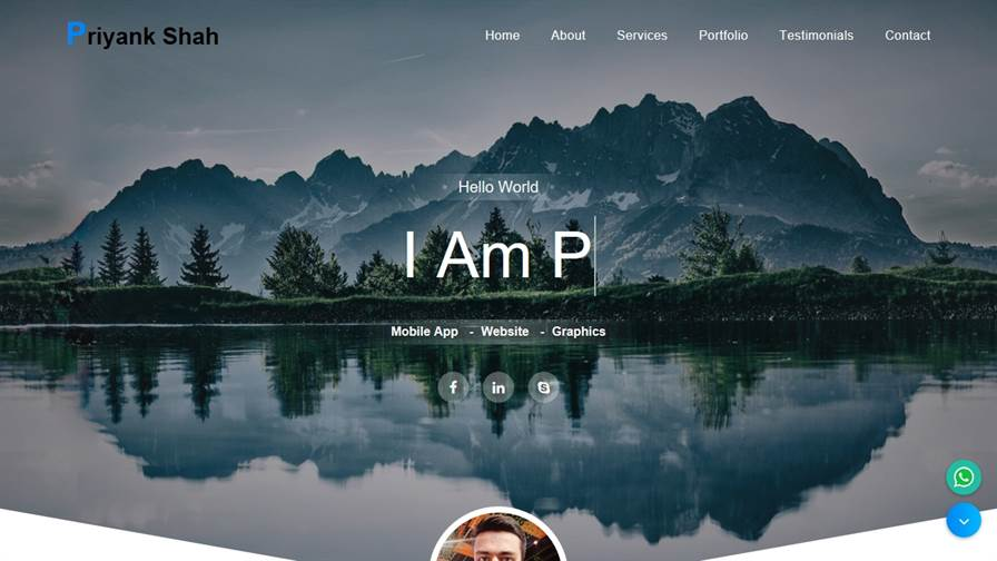 Freelance Web Designer, Surat - Priyank Shah