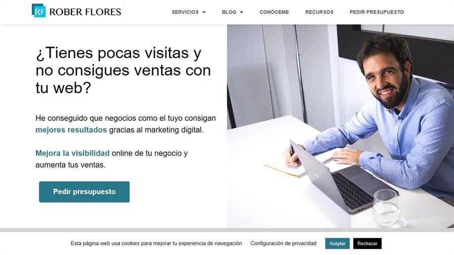Diseño y posicionamiento web en Bilbao | Rober Flores
