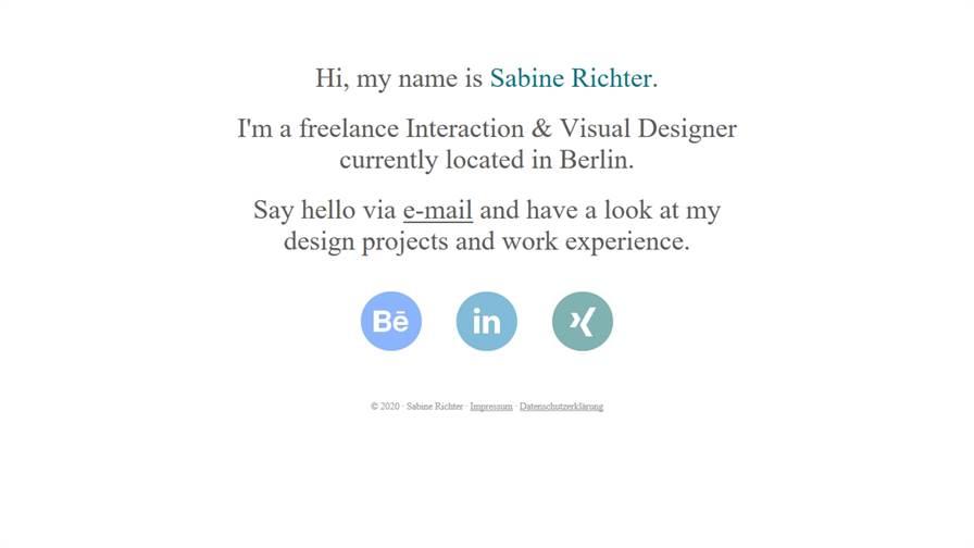Sabine Richter | Interaction & Visual Design | UX & UI Design