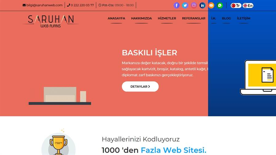 Saruhan Web Agency | Eskisehir Web Design Services