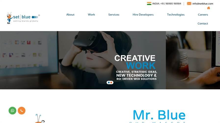 SetBlue.com - Website Development/Design Company USA | App Development Company (Surat) India