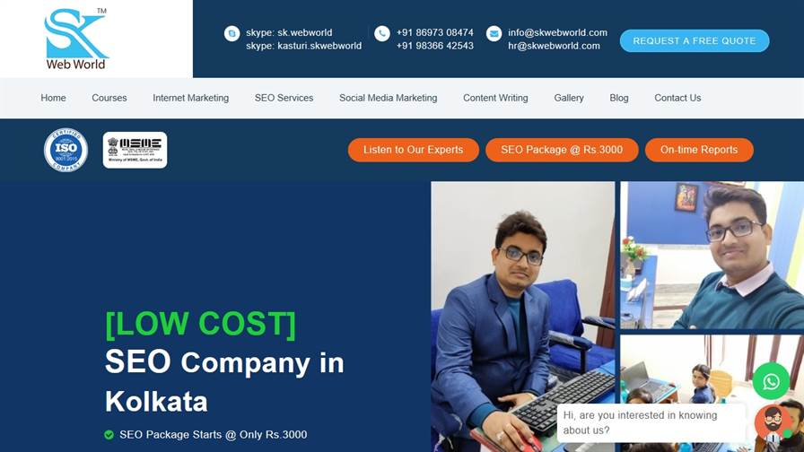 SK Web World - SEO, Digital Marketing and Website Design Training Institute in Kolkata