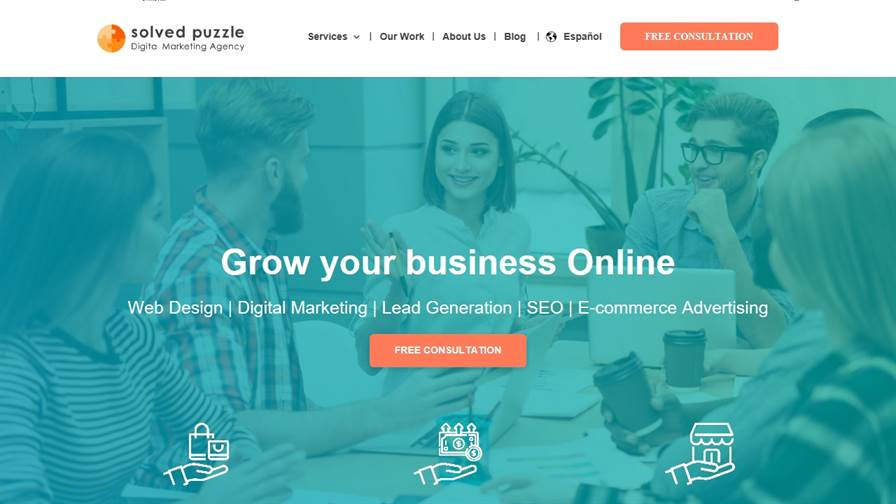 Digital Marketing Agency in Miami - Solved Puzzle